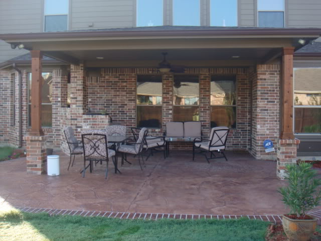 Decorative/stamped concrete patio