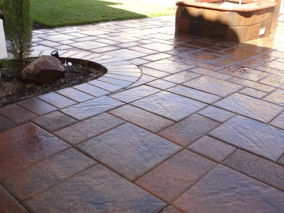 Image Result For Painting A Concrete Patio