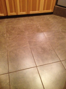 Large tile floor