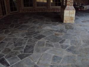 Slate patio