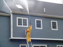 Pressure Washing A House
